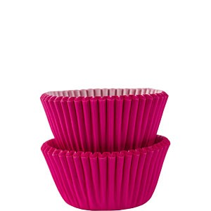 Mini Cupcakeformer 100 stk Hot Pink