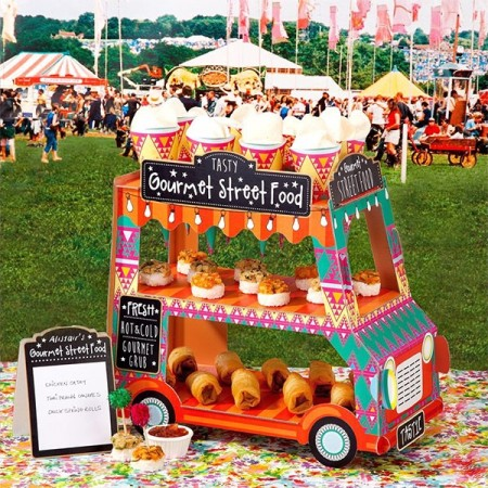 Sweet Shop Gourmet Street Food Van Stand