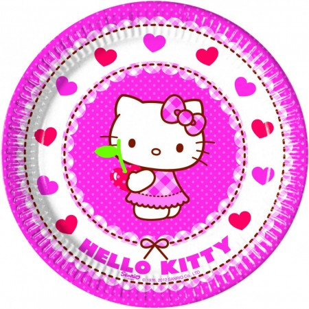 Hello Kitty Tallerkener 8 stk