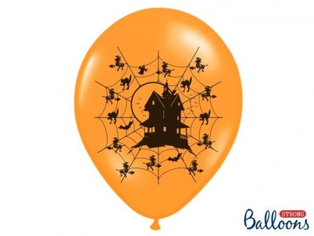 Ballonger Haunted House Orange 6stk 30cm