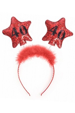 Headband with Stars 40 Rød