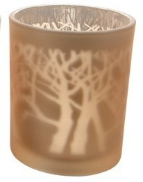 Telysholder Laser Trees 7x8.5cm light gold