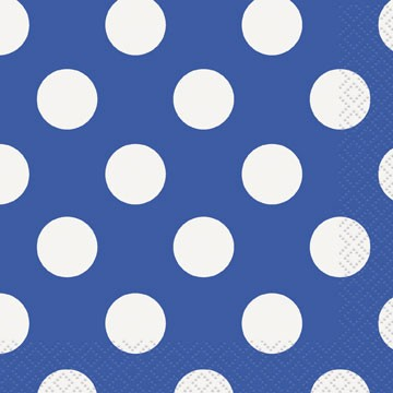 Polka Dot Lunsjservietter Royal Blå