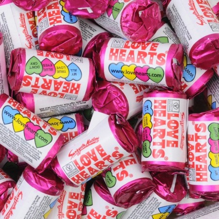 Mini Love Hearts 100 stk