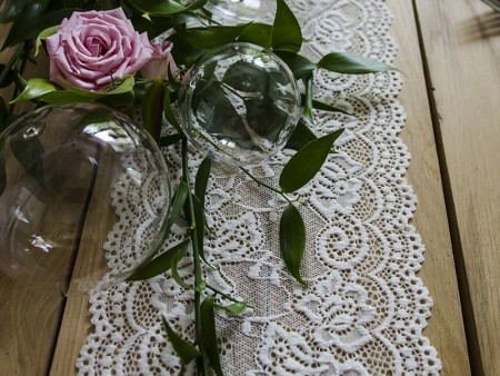 Bordløper Lace, off white 15cmx9meter