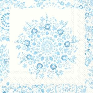 Servietter Lilly Light Blue Kaffe 20 stk