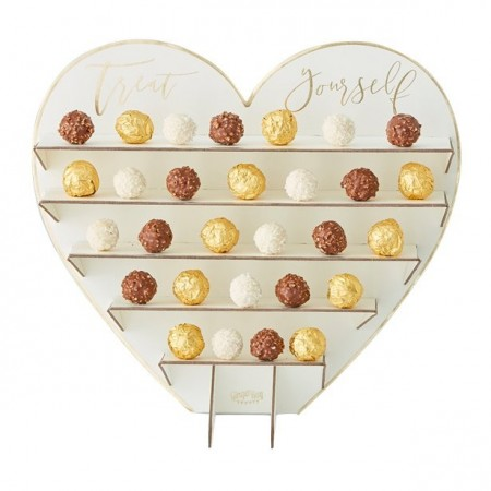 Gold Wedding Chocolate Treat Stand 40cm