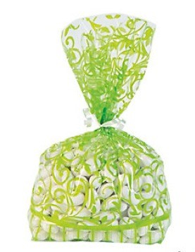Swirl Cellofanposer Lime Green