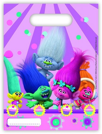 Trolls Party Bag 6 stk