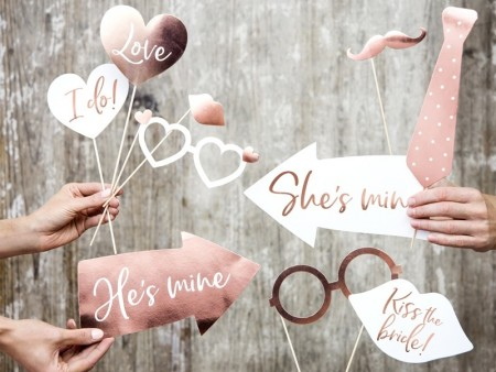 Wedding photo props mix 12stk KNP32