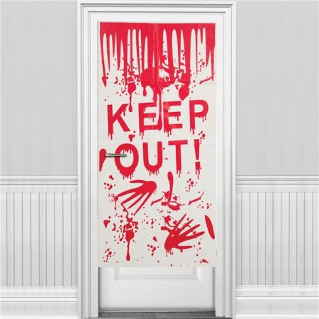 Keep Out Halloween Door Cover 58 x 118cm