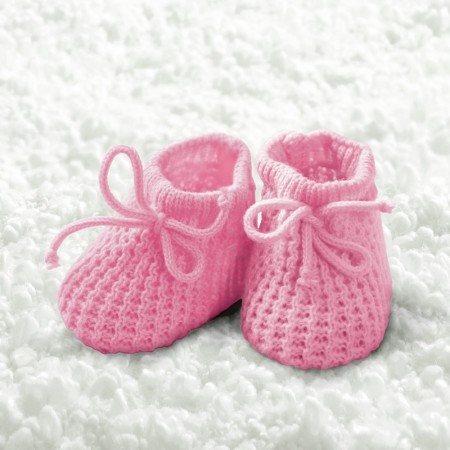 Serviett Baby Girl Booties Lunsj 20stk