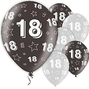 ballonger 18 år Ballonger 18 År Svart | Pynt Til Fest. Tips, inspirasjon og gode  ballonger 18 år